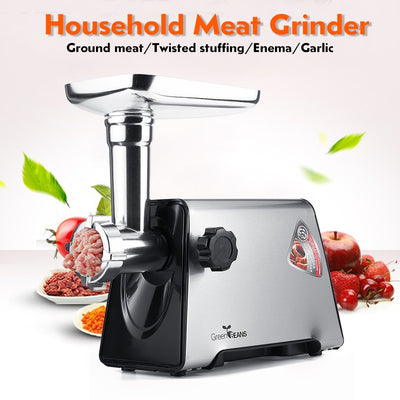 220V 3000W 300r/min Stainless Steel Meat Grinder with 3 Knifes