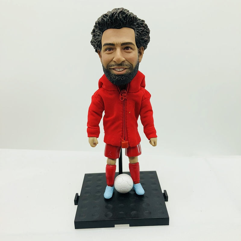 Soccerxstar Soccer Star Figure LIV 11 M. Salah Statue 12 cm Height Red Kit Collections 2018 Season DIY Toy