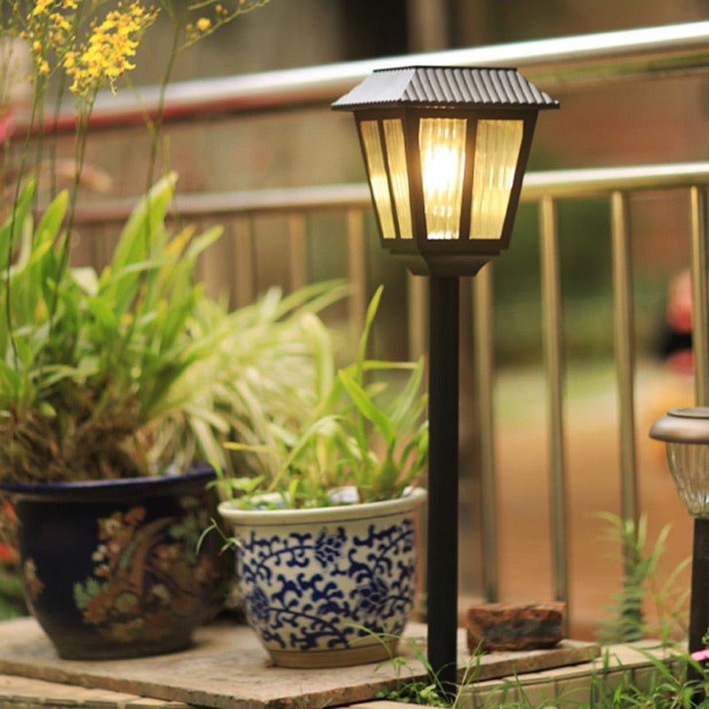 Modern minimalist outdoor super bright solar garden lights waterproof plug lawn lamp LED villa decoration body induction lamp