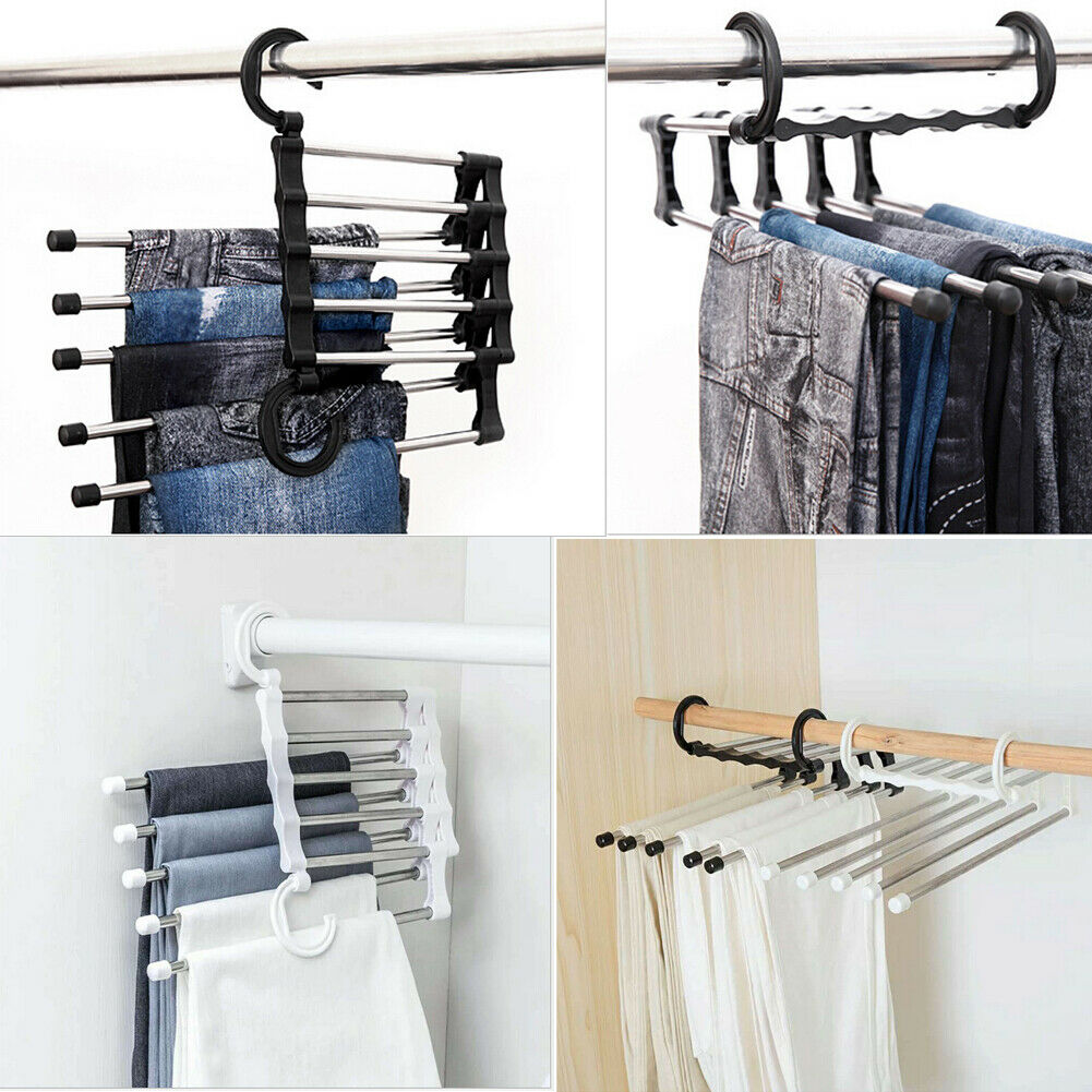 Stainless Steel 5 in 1 Pant rack shelves