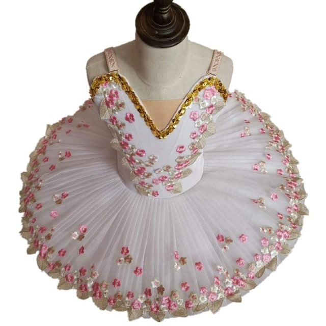 White professional ballerina tutu for kids