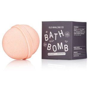 "Our bath bombs are carefully mixed in-house by hand. They are loaded with epsom salts and oils for a lovely, relaxing soak that will cleanse, moisturize and refresh. Scented with a bright citrus bergamot & grapefruit essential + fragrance oil blend in a fun coral color! 2.75"" round, 8oz bath bombs. Ingredients: Baking Soda Citric Acid Soybean Oil Olive Oil Epsom Salt Distilled Water Fragrance Cosmetic Color"