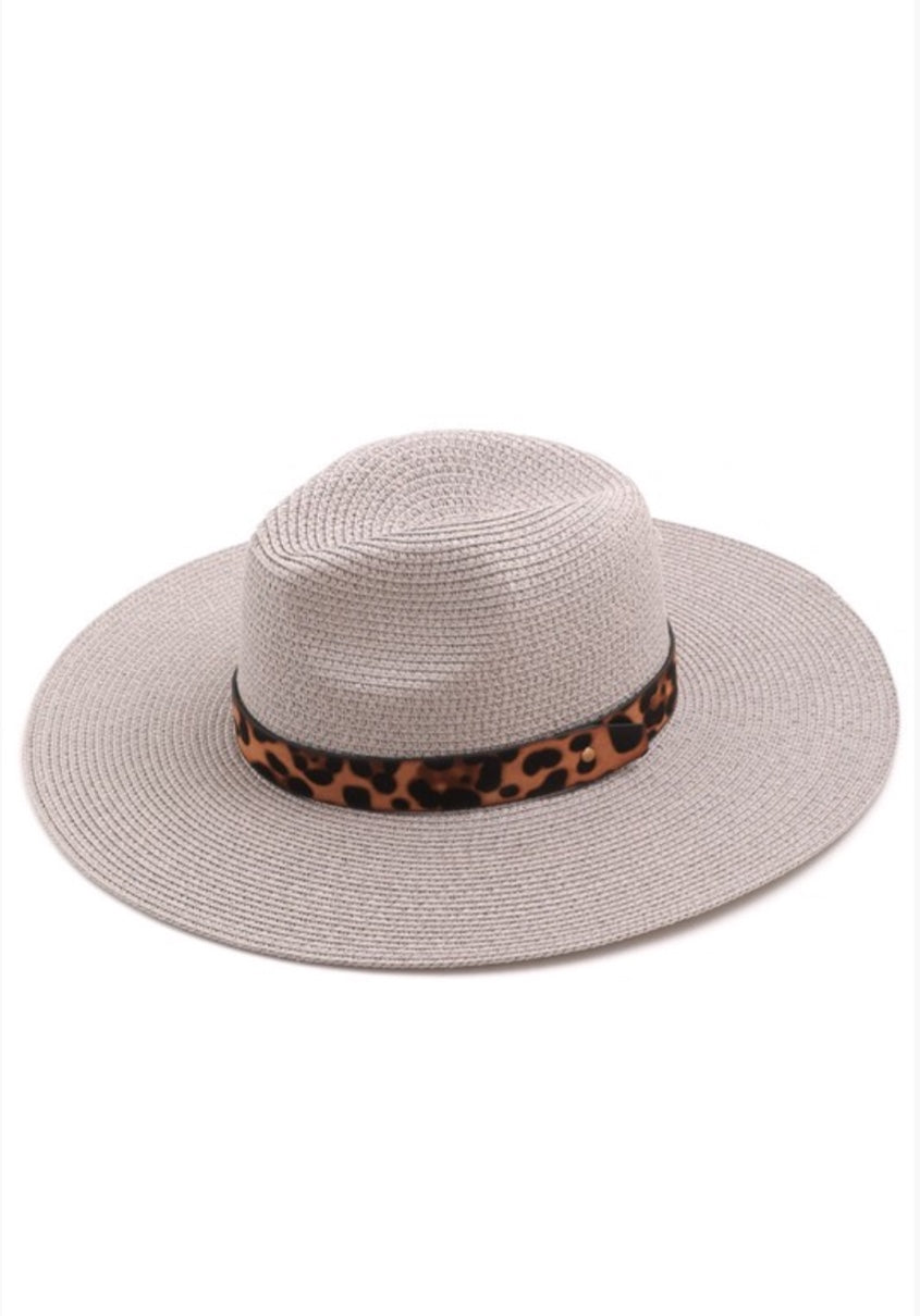 Here For Today Tan & Straw Boho Hat