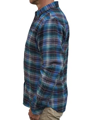 Cumberland Flannel Shirt - Charcoal Heather/Blue