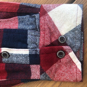 Granby Flannel - Red/Ecru/Navy - Beefy 8 oz. Flannel