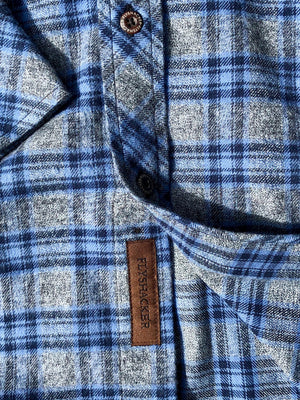 The Grindle Plaid – Grey/Blue