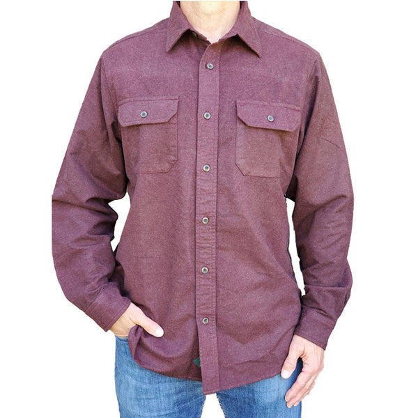 Heathered Chamois Shirt – Sienna