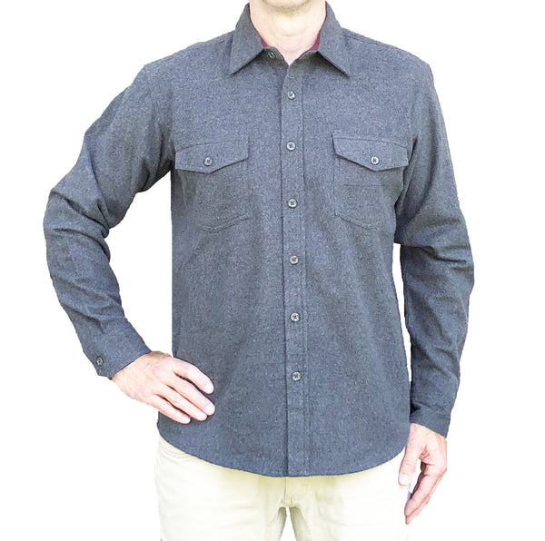 Heathered Chamois Shirt – Charcoal