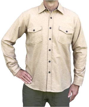 Heathered Chamois Shirt – Camel