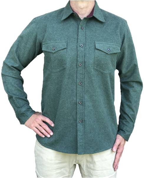 Heathered Chamois Shirt – Forest