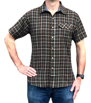 Cotton/Linen Short Sleeve Shirt - Shale