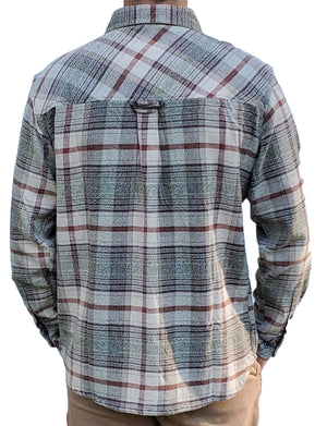 South Fork Grindle - Tan/Red - Beefy 8 oz Flannel