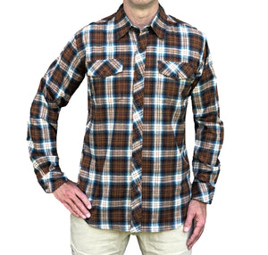 The Original Flyshacker Shirt – Camel/Turquoise
