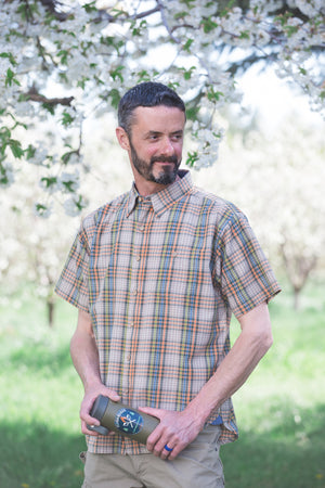 Copy of Sand Point Short Sleeve Shirt - Multi/Taupe