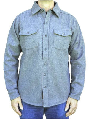 Wool Shirt - Heather Grey