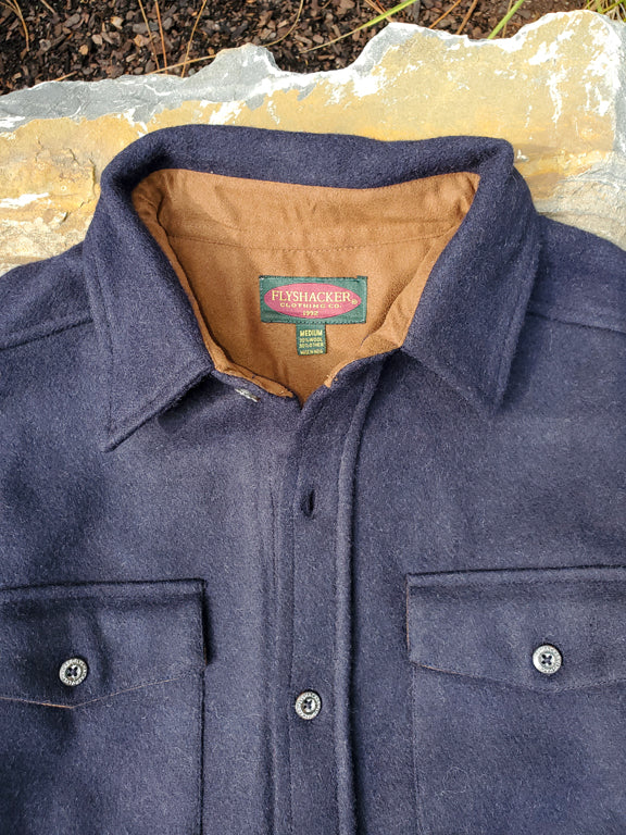 Wool Shirt - Navy