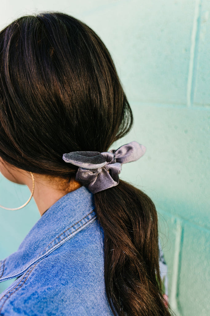 Slate Gray Scrunchie