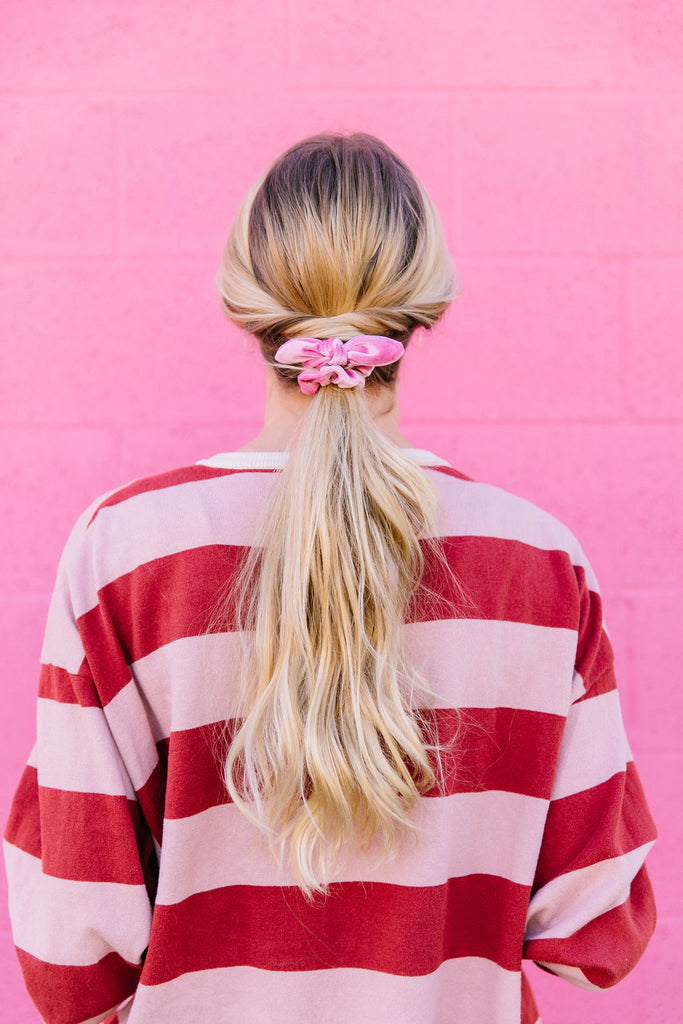 Mini Light Pink Scrunchie