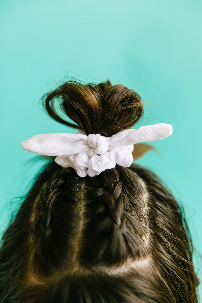 Lacy White Scrunchie