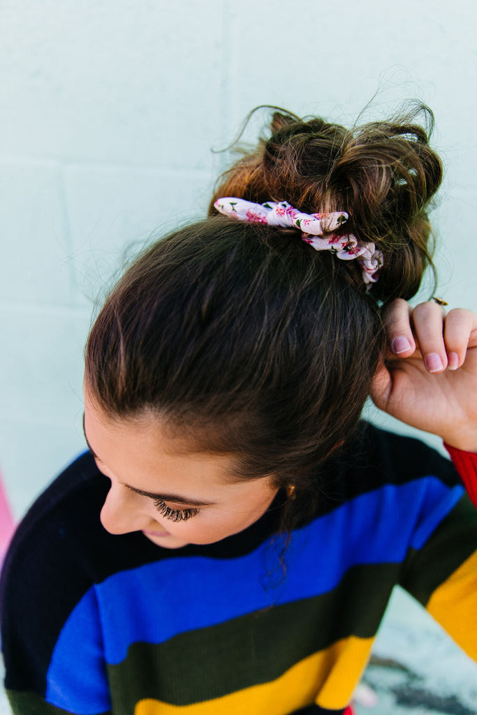 Mini Carnation Scrunchie