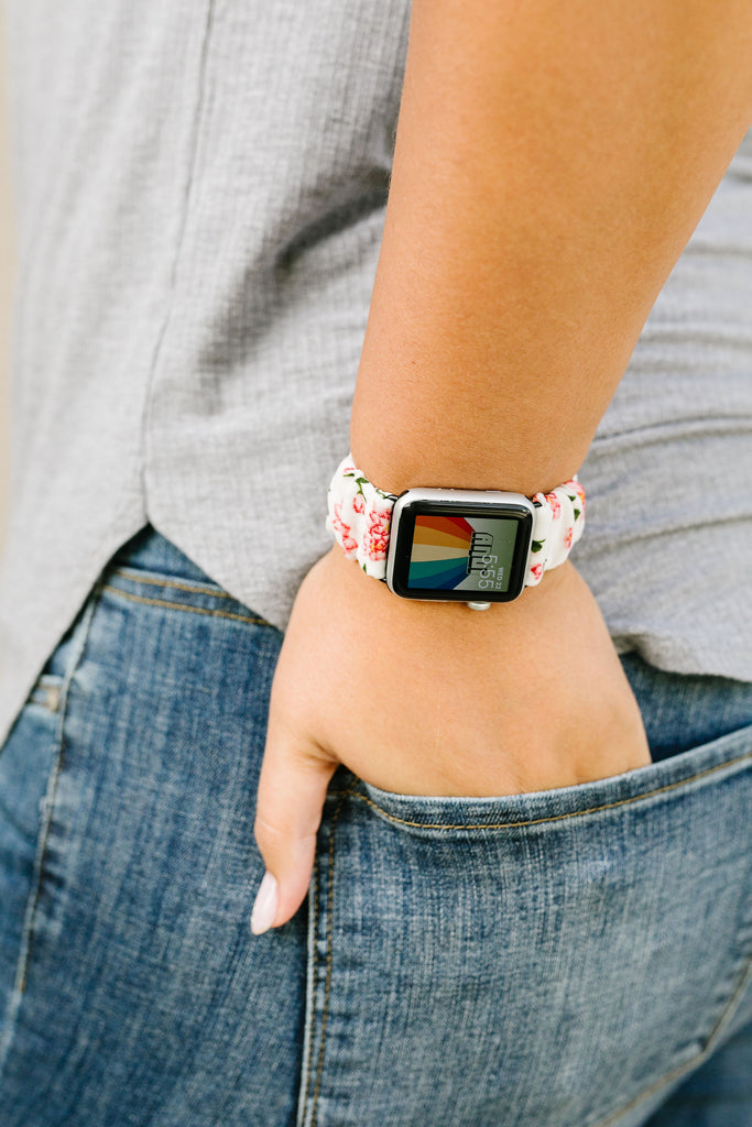 Carnation Scrunchie Band Compatible with Apple Watch