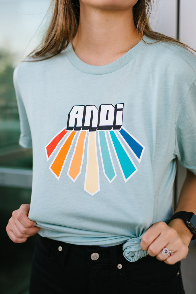 ANDi T-Shirt in Dusty Blue
