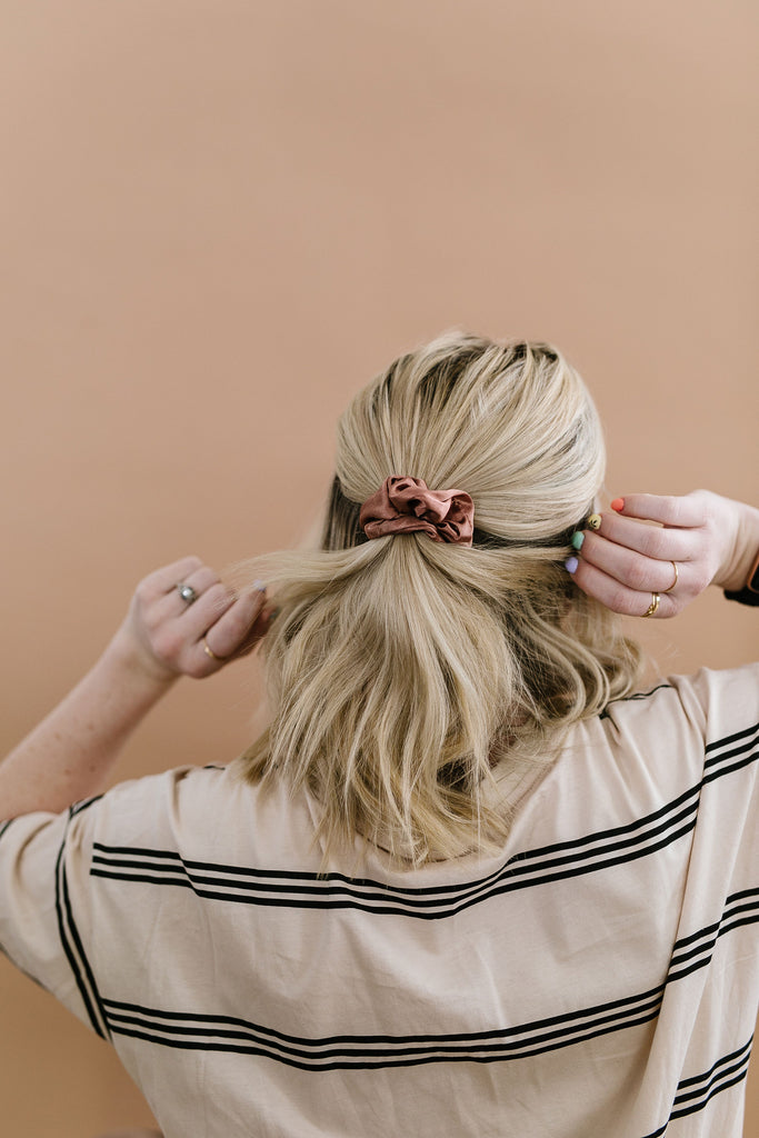 Clay Satin Scrunchie