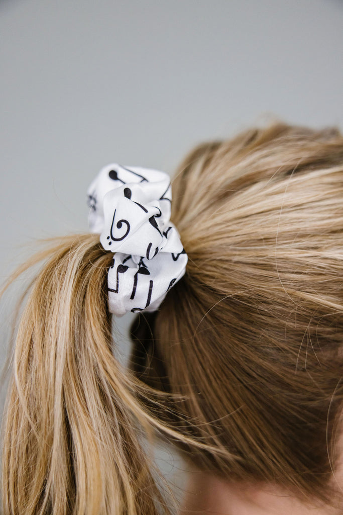 Music Notes Scrunchie