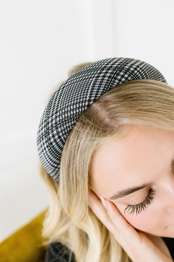 Plaid Cushioned Hard Headband