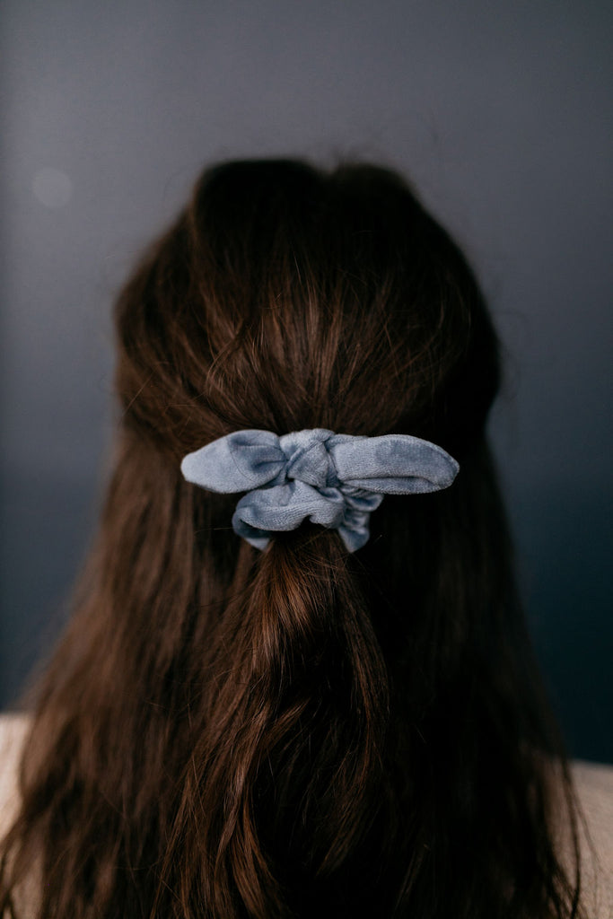 Mini Dusty Blue Scrunchie