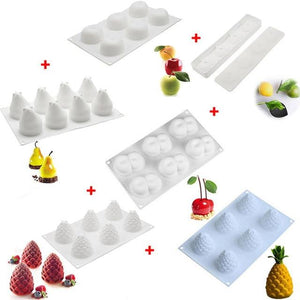 MOULE EN SILICONE FRUITS type SILIKOMART