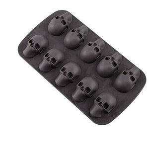 SHENHONG 10 Cavity Ice Cube Skull Shape Silicone Mold Bar Ice Cream Maker Whiskey Wine Tray DIY 3D Cool Tools Summer