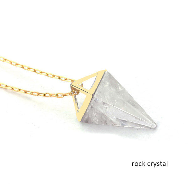 Healing OPAL Crystal Pyramid Necklace
