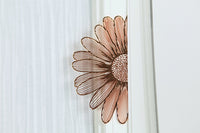 Creative Rose Gold Hollow Flower Bookmarks Vintage Metal Bookmark with Chinese Knot Multifunctional Stationery Escolar Gift
