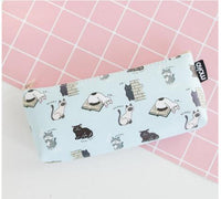 Fresh My Cat Waterproof Large Pencil Case Stationery Storage Organizer Bag School Office Supply Escolar