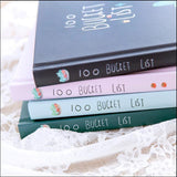 """100 Bucket List"" Planner Gift Set (Bonus Pen and Washi Tapes)"