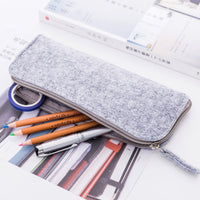 Creative Simple Felt Capacity Pencil Bag Stationery Storage Organizer Pencil Case Box School Supply Gift Stationery