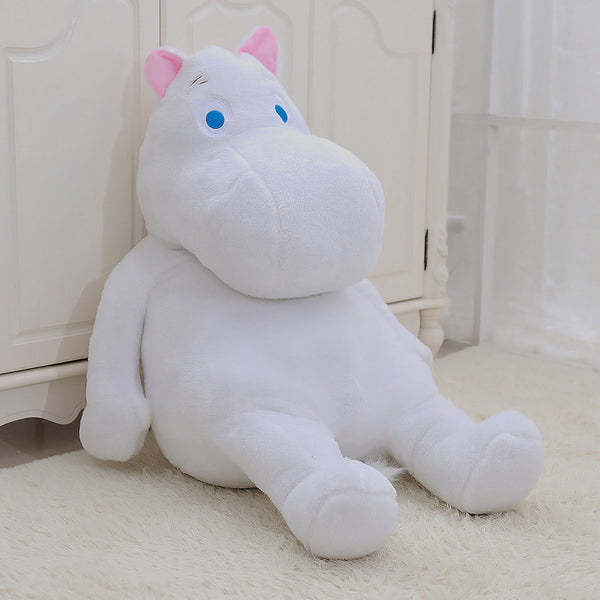Plush Hippo Doll Stuffed Hippo Soft Toy Plushie Pillow Birthday Gift for Children