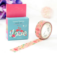 Pink Flamingo Love Washi Tape