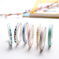Slim Colourful Washi Tape