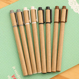 Eco Friendly Kraft Paper Gel Pen Set