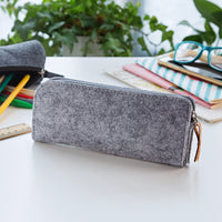 Minimalism Felt Pencil Bag Fabric Pencil Case  Stationery Pouch Purse Storage Bag School Supplies Office Supplies Pencil Boxs