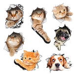 Cutie Pie Cat and Dog 3D Wall Stickers