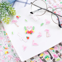 Pink Flamingo 3D Stickers