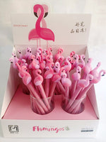 Lucky Pink Flamingo Gel Pen Set (4 pcs)
