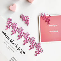 Sweet Pink Flamingo Paper Clips