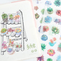 Trendy Succulent Plant Sticker Set