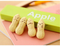 Kawaii Peanut Eraser Set