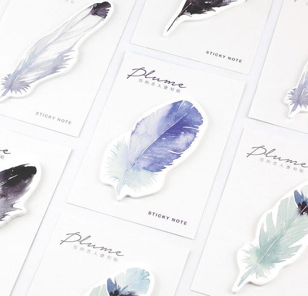 Plume Feather Sticky Notes