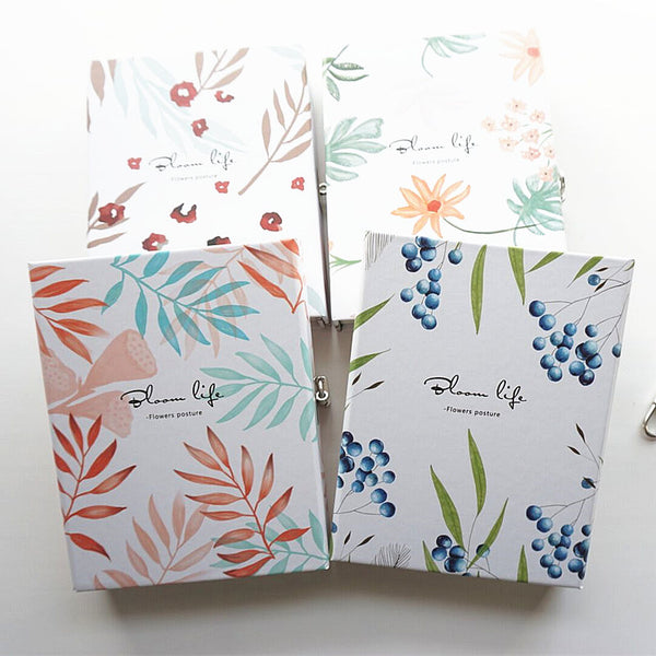 """Flower Posture"" Hard Cover Lock Box Notebook Cute Functional Dairy Journal Blank Colored Papers Gift Package"
